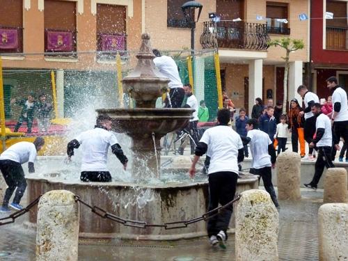 Baño en la fuente